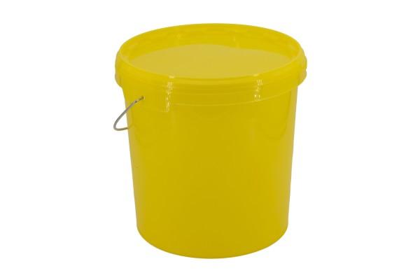 12,5 kg Honig-Eimer mit Deckel gelb, neutral