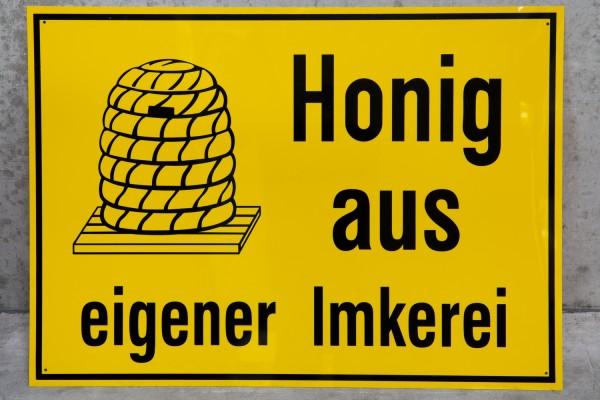 Werbeschild Honig aus eigener Imkerei 30x20 cm