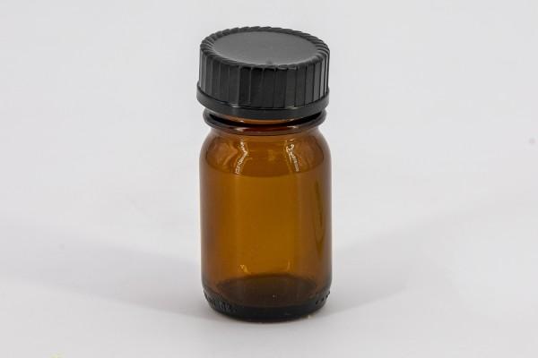 Braunes Weithalsglas 30 ml