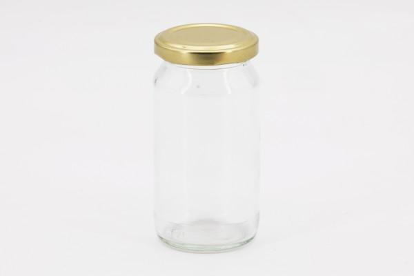 Rundglas 212 ml mit 66er gold