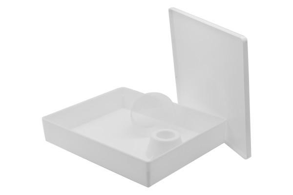 Plastik-Futtertrog 6 l eckig