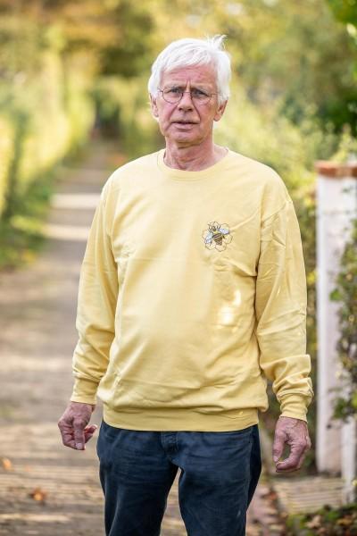Sweat Shirt beige mit Bienenlogo Größe L