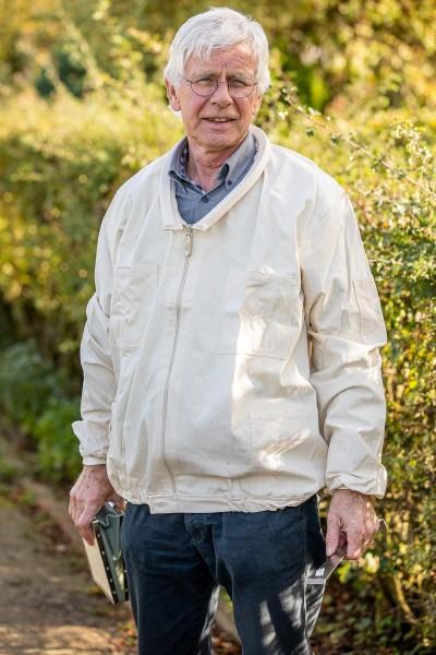 Imker-Jacke mit Wulstkragen weiß