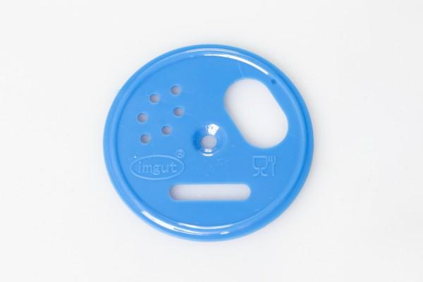 Fluglochrosette Kunststoff blau