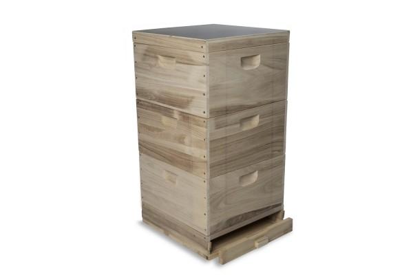 11er Normalmaß Holzbeute mit Hochboden (DN)