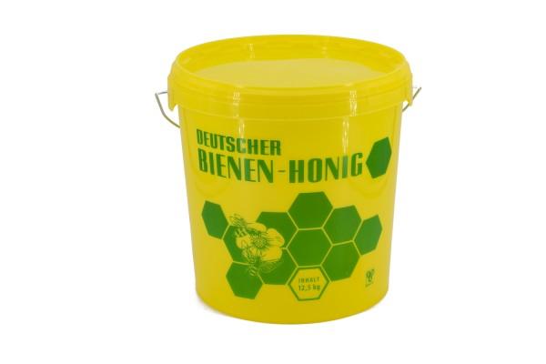 Honig-Eimer 12,5 kg gelb mit Druck