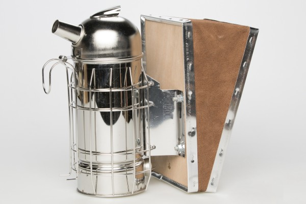 Bieno® Raucher, mit Dose, mit braunem Lederblasebalg, 8 cm