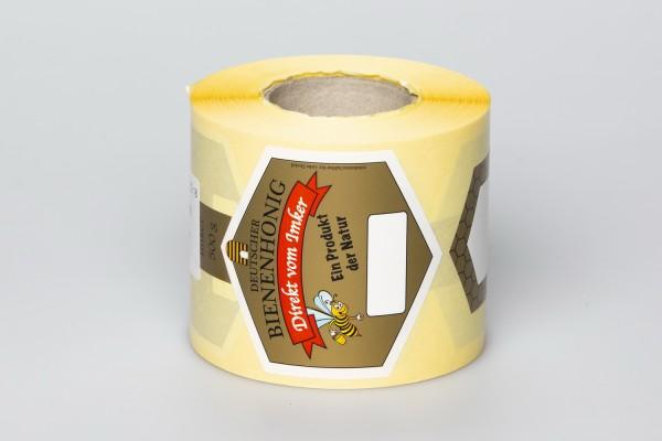 Honigglas-Etikett 500 g Rolle