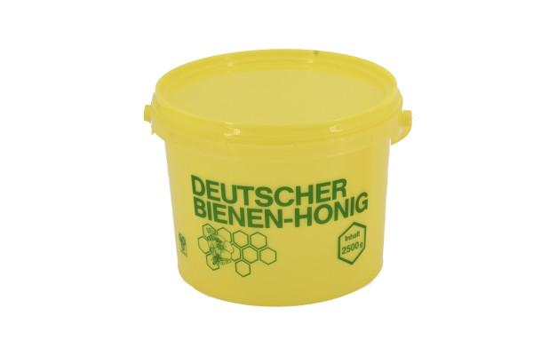 Honig-Eimer 2,5 kg gelb mit Druck