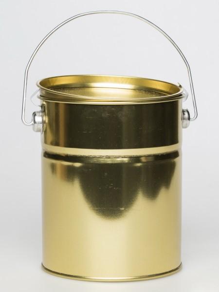 Blech-Honig-Eimer 2,5 kg gold