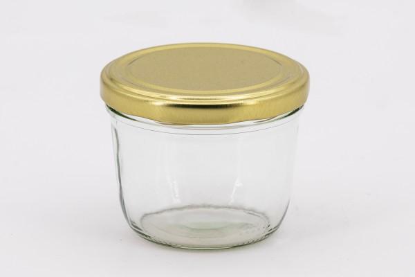 Stülpglas 230 ml mit 82er gold