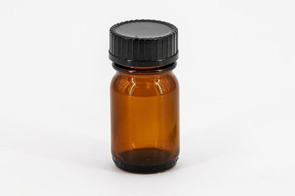 Braunflasche 100 ml mit gelber Tropfmontur