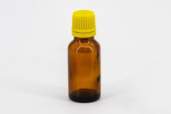 Braunflasche 20 ml mit gelber Tropfmontur