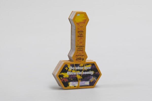Honigglas-Stegetikett Neutral 250g