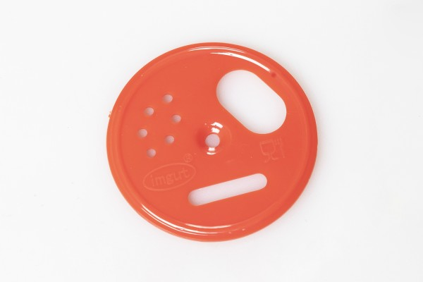Fluglochrosette Kunststoff rot