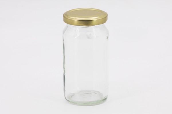 Rundglas hoch 212 ml mit 53er gold