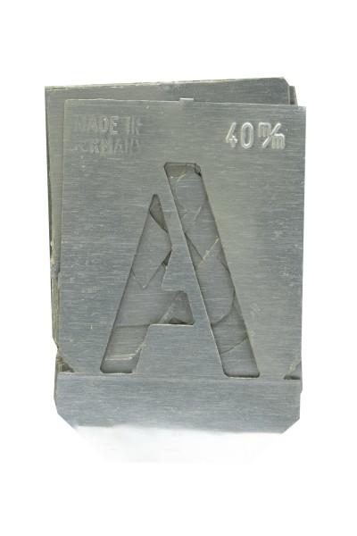 Mal-Schablone ganzer Buchstabensatz A-Z