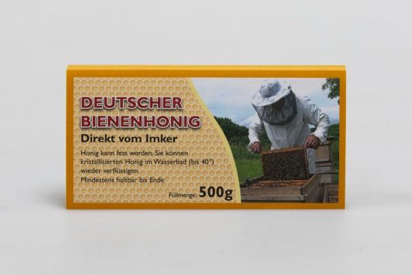 Honigglas-Etikett 500 g Dt. Bienenhonig