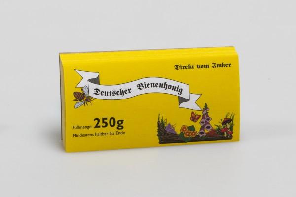 Honigglas-Etikett 250 g gelb