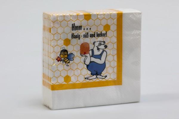 Servietten mit Bienenmotiv