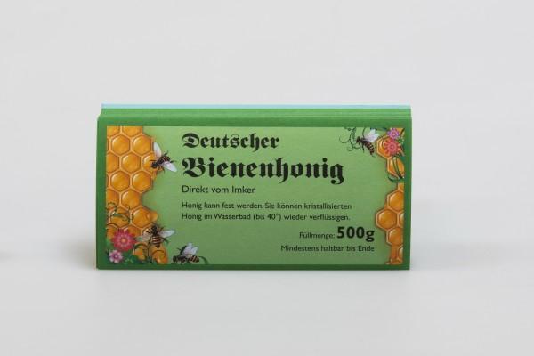 Honigglas-Etikett 500 g grün